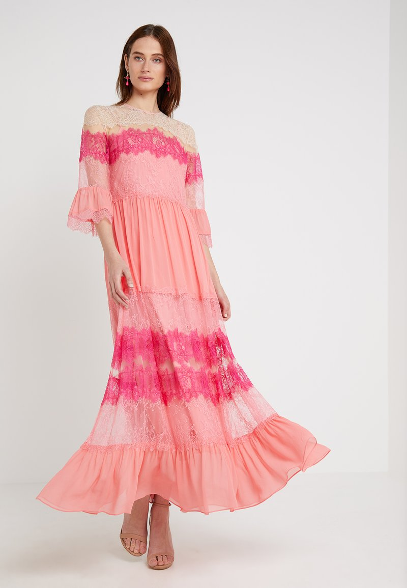 TWINSET - ABITO LUNGO IN GEORGETTE  PIZZI - Maxi dress - anemone/wild rose
