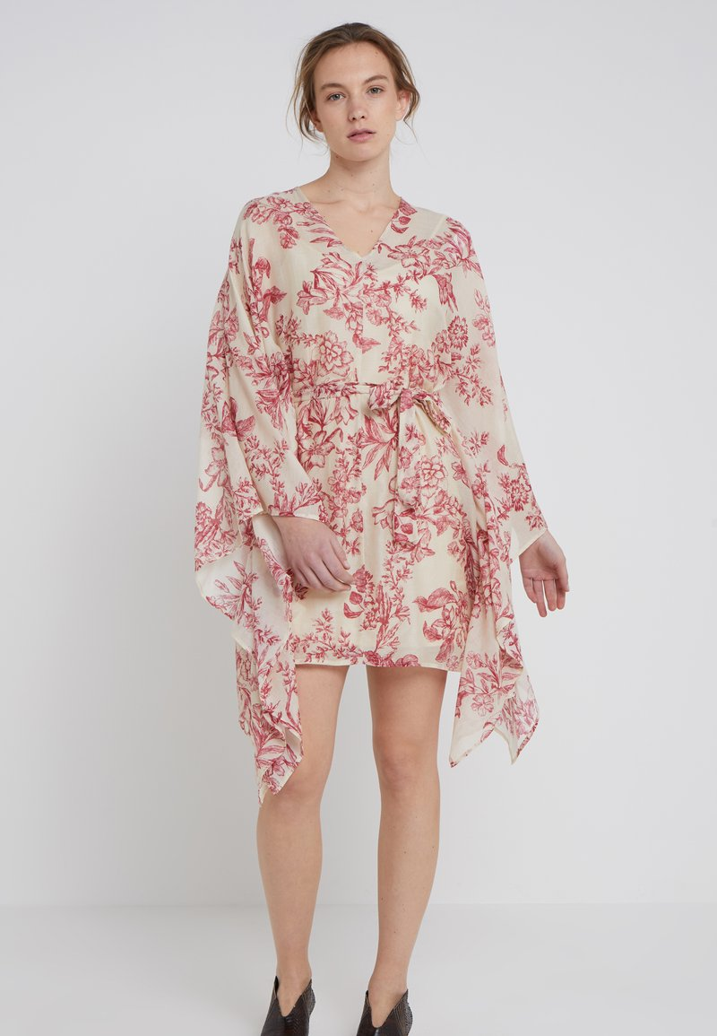 TWINSET - Day dress - red toile de jouy