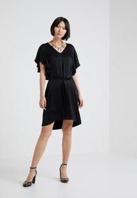 TWINSET - IN RASO - Vestito elegante - nero - 1