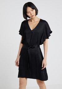 TWINSET - IN RASO - Vestito elegante - nero - 0