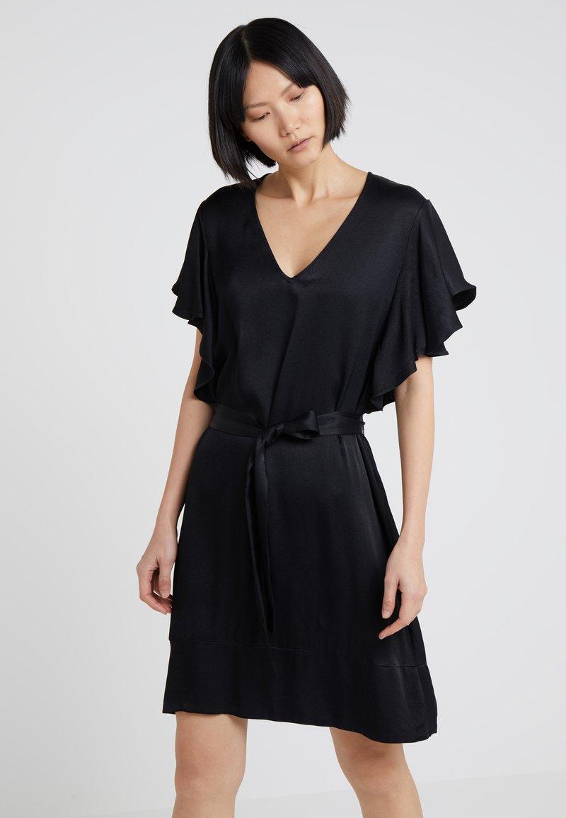 TWINSET - IN RASO - Vestito elegante - nero