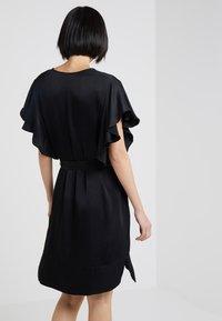 TWINSET - IN RASO - Vestito elegante - nero - 2