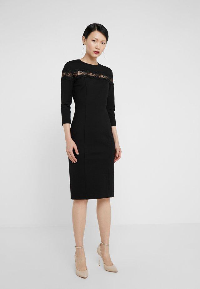 ABITO TUBINO IN PUNTO MILANO - Shift dress - nero
