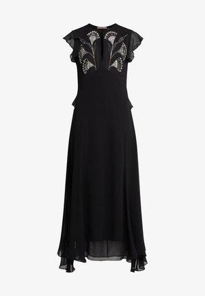 ABITO LUNGO IN GEORGETTE CON RICAMI - Cocktail dress / Party dress - nero