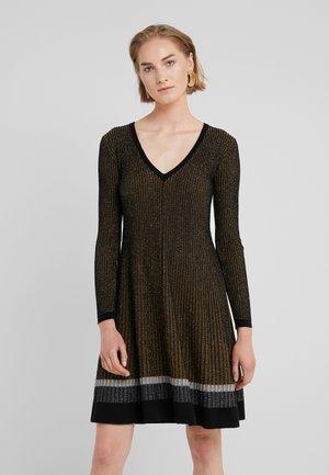 ABITO IN COSTA EFFETTO - Stickad klänning - nero