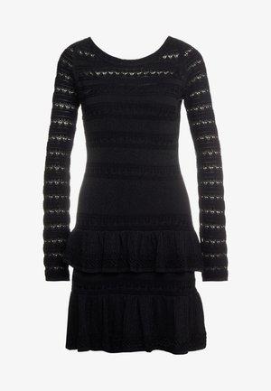 ABITO  - Pletené šaty - riga nero