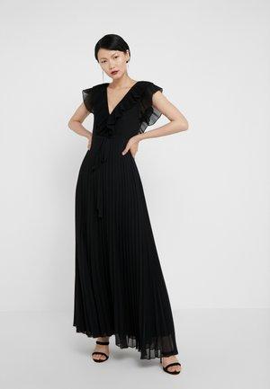 ABITO LUNGO IN PLISSE - Robe de cocktail - nero