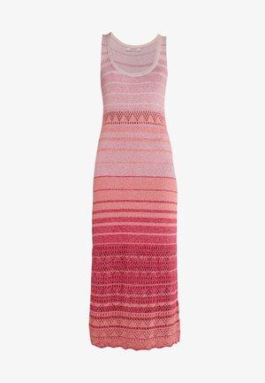 Robe pull - riga multicolor/rosa