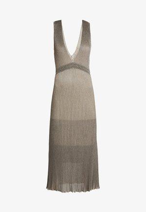 Strikket kjole - silver/gold