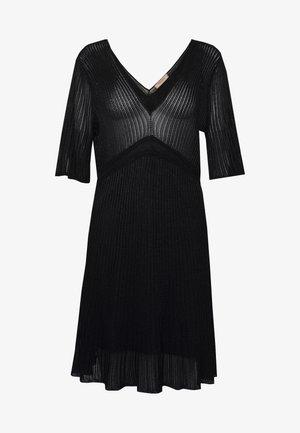 Pletené šaty - nero