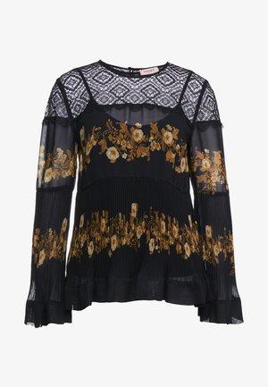 BLUSA STAMPATO CON TOP - Bluser - righe patch fiore/barocco nero