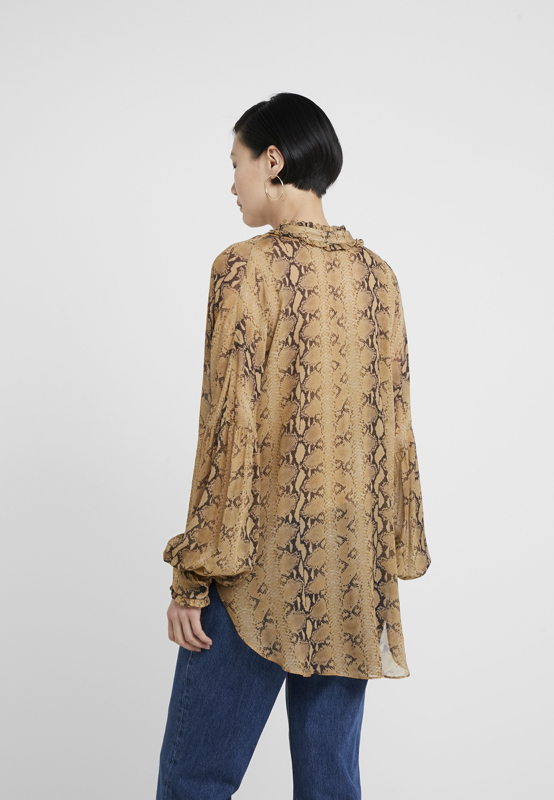 TWINSET IN TESSUTO STAMPATO - Blouse cammello