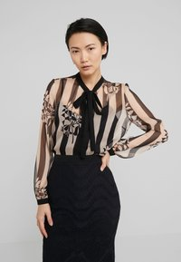 TWINSET - CAMICIA - Blouse - off-white/black - 0
