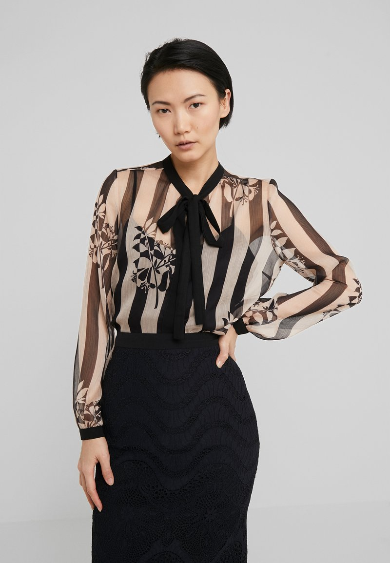 TWINSET - CAMICIA - Blouse - off-white/black