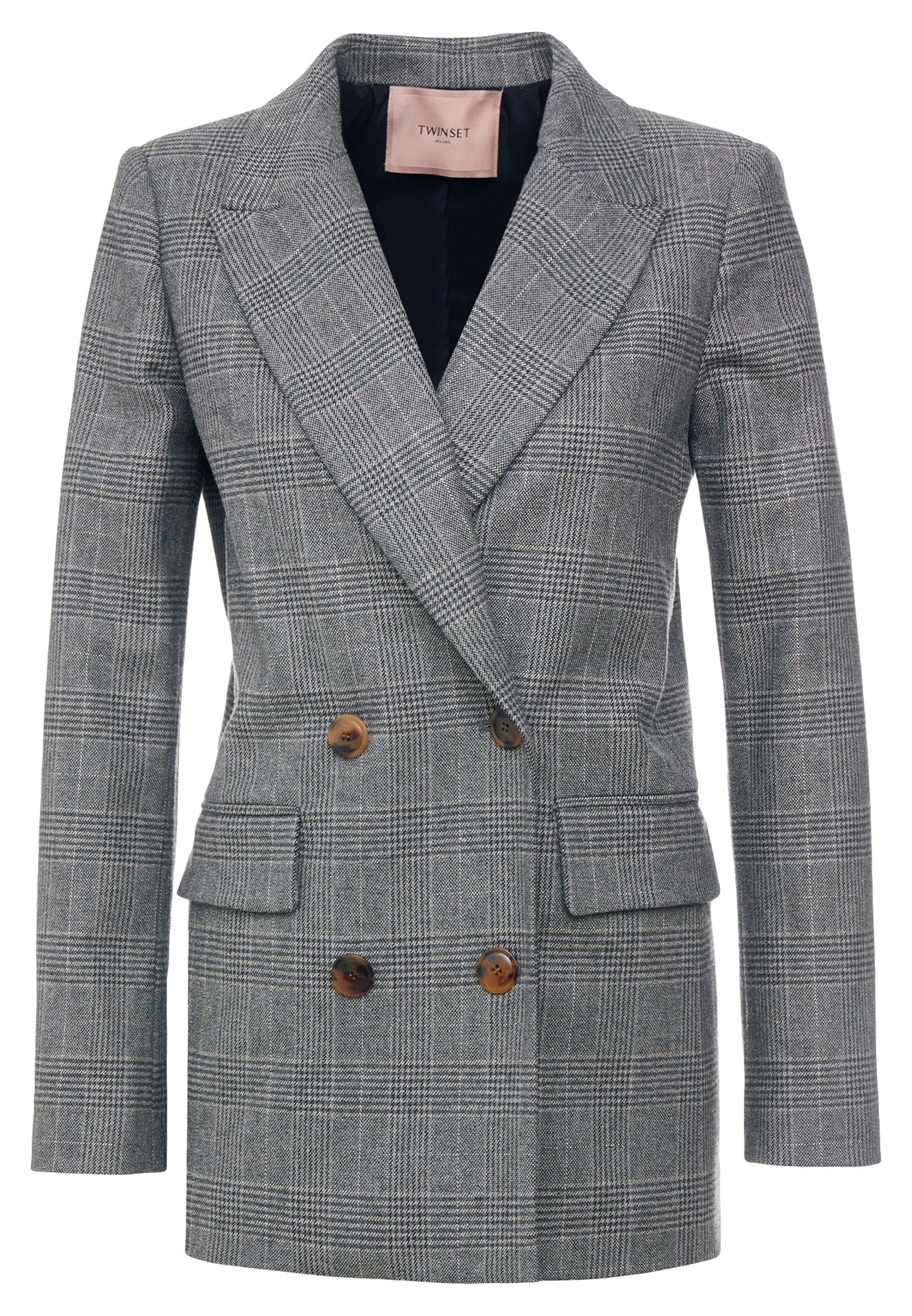 Twinset Lunga Disegno Galles - Blazer Dark Grey 5uqQTDqk
