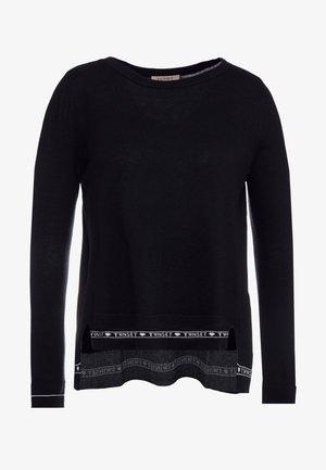 GIROCOLLO - Sweter - nero