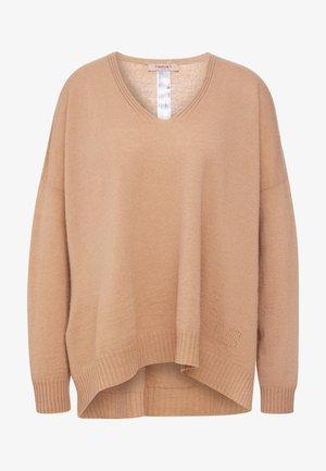 MAGLIA OVER  - Sweter - cammello