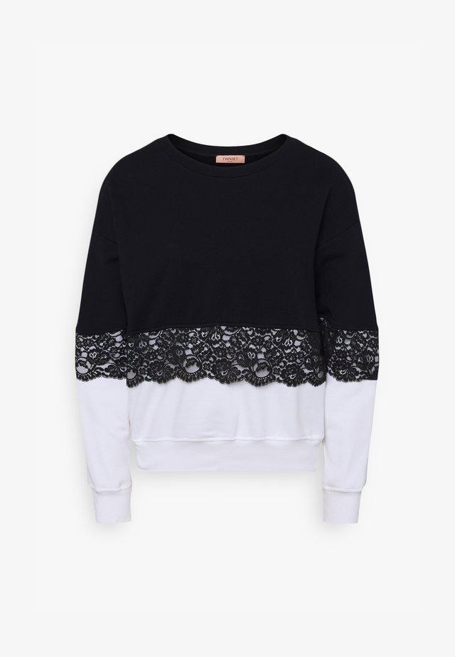 Sweatshirt - bianco ottico/nero
