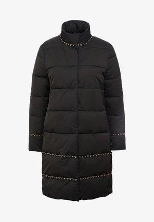 PIUMINO LUNGO CON DETTAGLI  CATENE  - Zimní kabát - nero