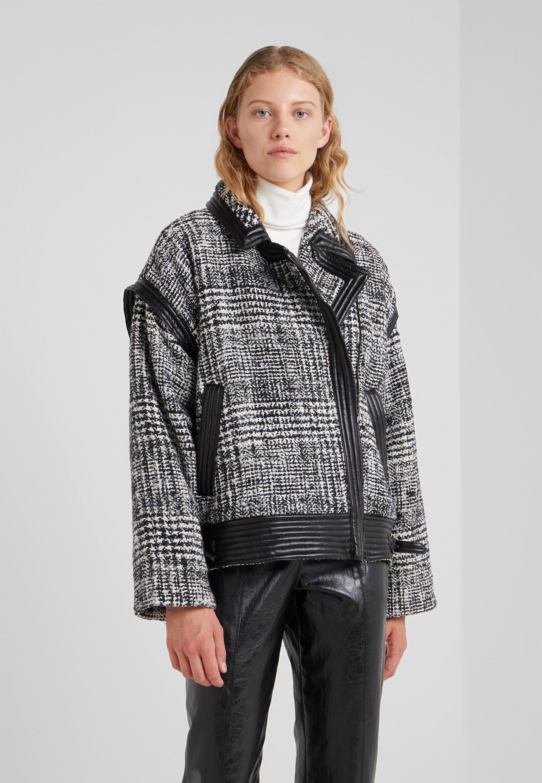 TWINSET CABAN IN PANNO  - Lett jakke - bicolore neve/nero