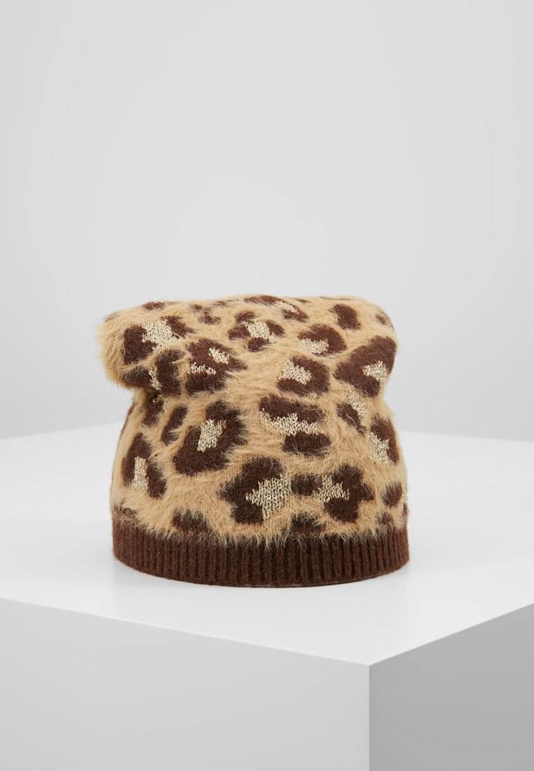TWINSET - SPOTTED BEANIE - Huer - brown