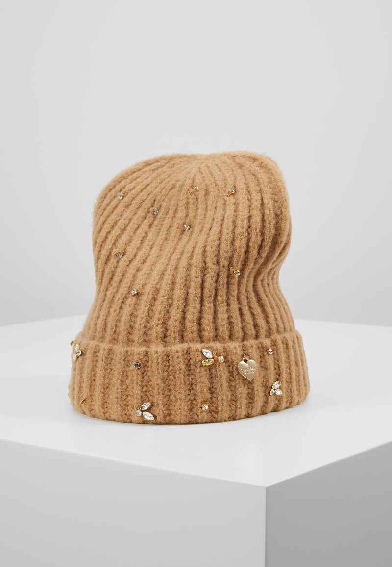 TWINSET - EMBROIDERY BEANIE - Huer - camel