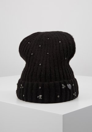 EMBROIDERY BEANIE - Huer - nero