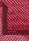 TWINSET - ALL OVER BUTTERFLY - Chusta - bordeaux