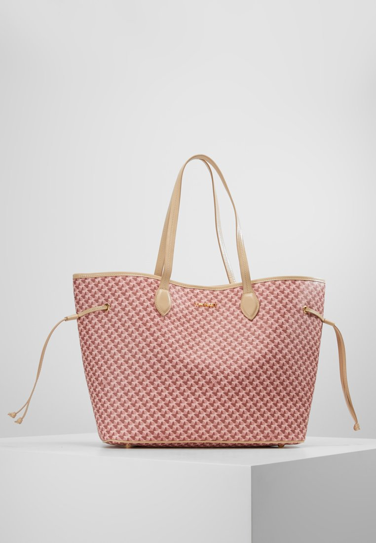 TWINSET - ALL OVER BUTTERFLY - Bolso shopping - farfalle perla rosa