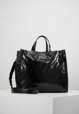 TOTE MORBIDA CON TRACOLLA - Shopping bag - nero
