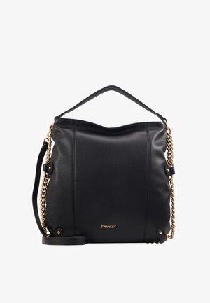 SIMILPELLE CON DETTAGLIO CATENA - Shopping bags - nero