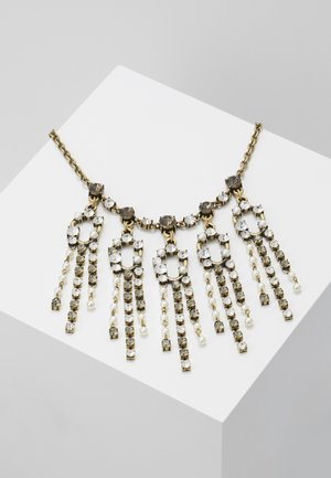 PEARLS AND RHINESTONES JEWELLERY - Collar - ottone invecchiato