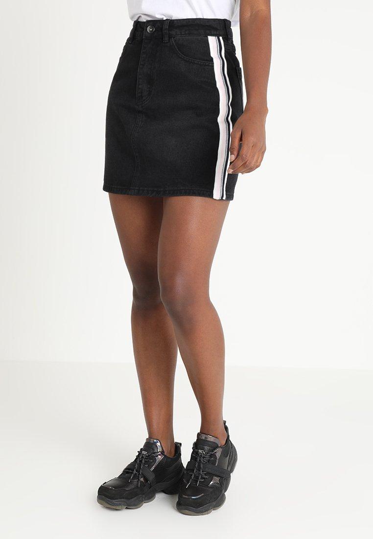 TWINTIP - A-snit nederdel/ A-formede nederdele - black denim