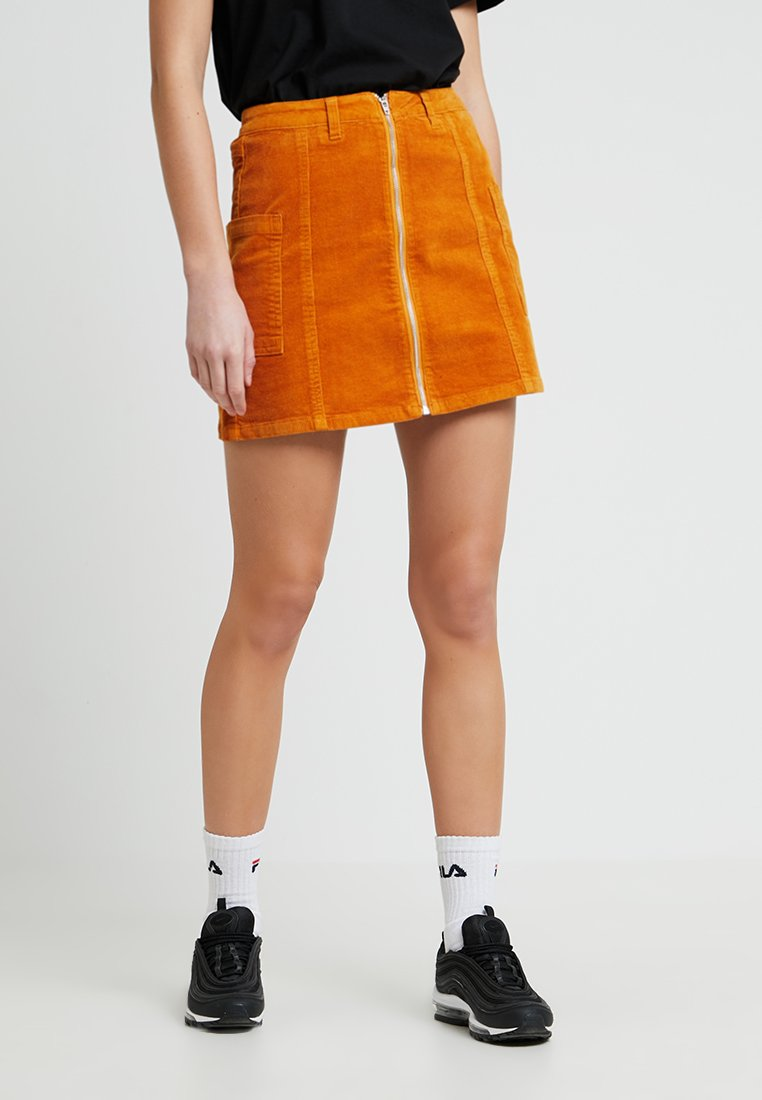 TWINTIP - Pencil skirt - mustard