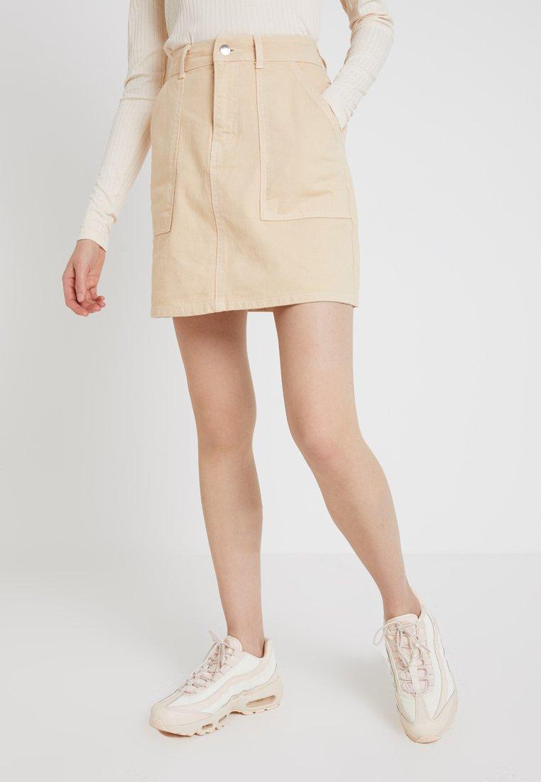 TWINTIP - Áčková sukně - beige