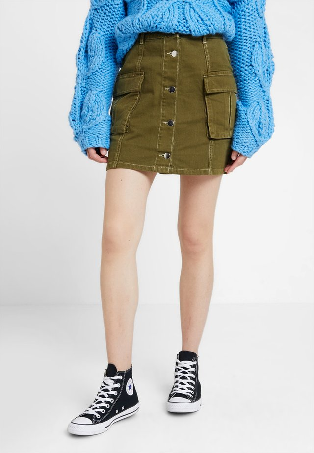 Mini skirt - khaki