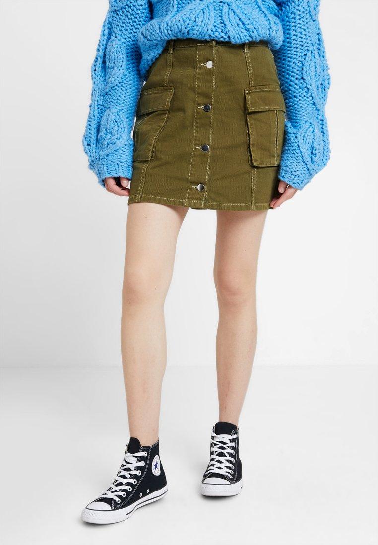 TWINTIP - Mini skirt - khaki