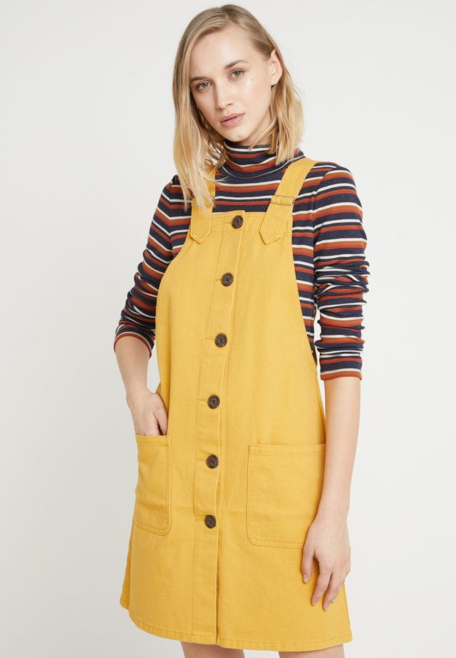 Denim skirt - yellow