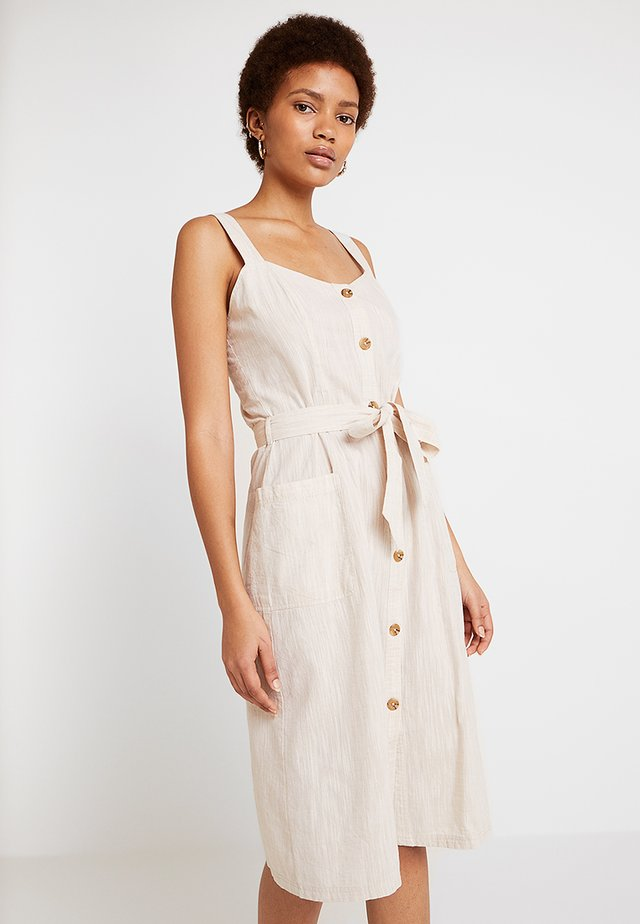 Sukienka koszulowa - oatmeal