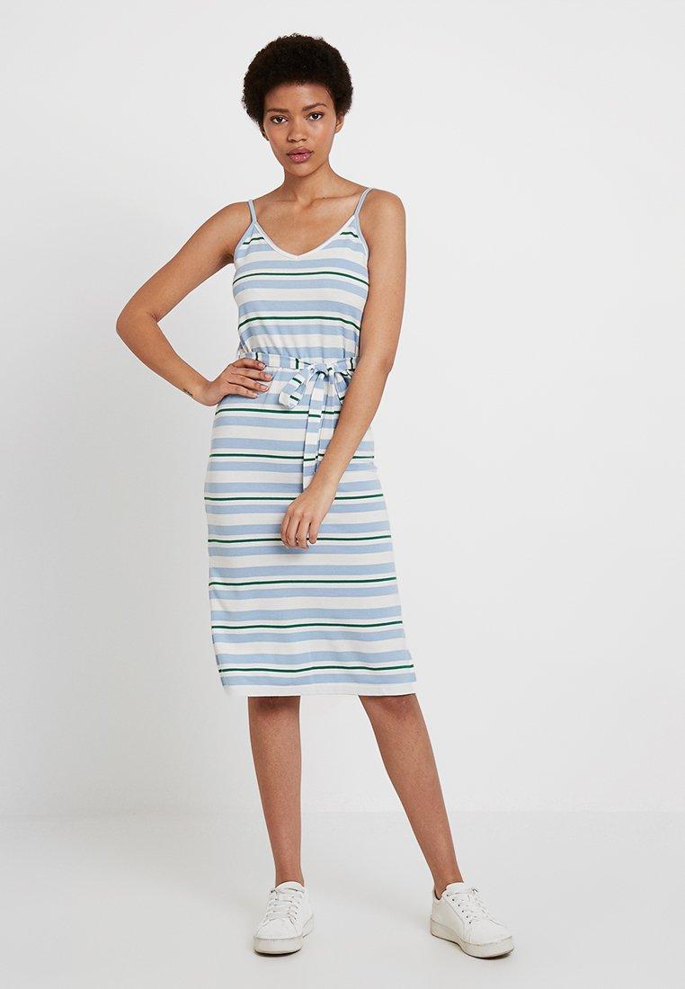TWINTIP - Jersey dress - white/blue