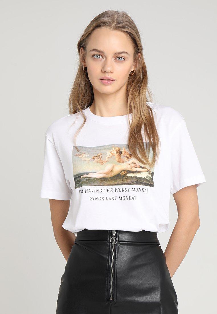 TWINTIP - T-shirt med print - white