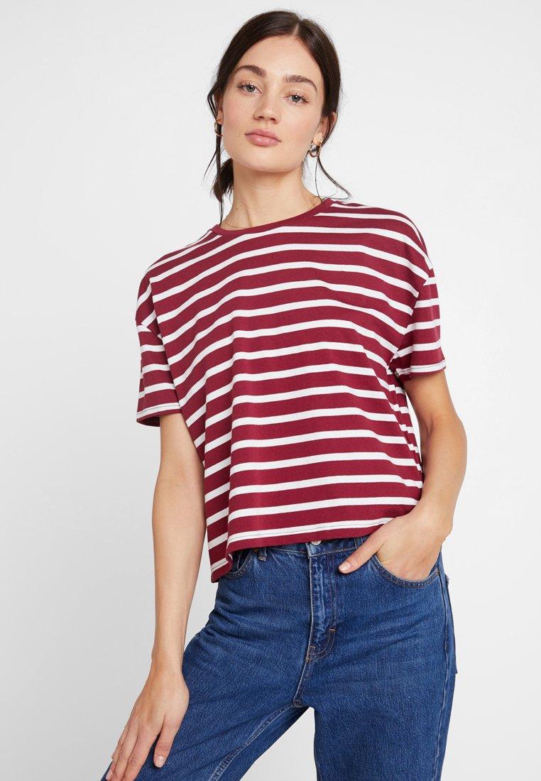 TWINTIP - T-Shirt print - dark red white
