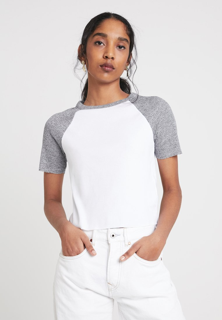 TWINTIP - Print T-shirt - white/grey
