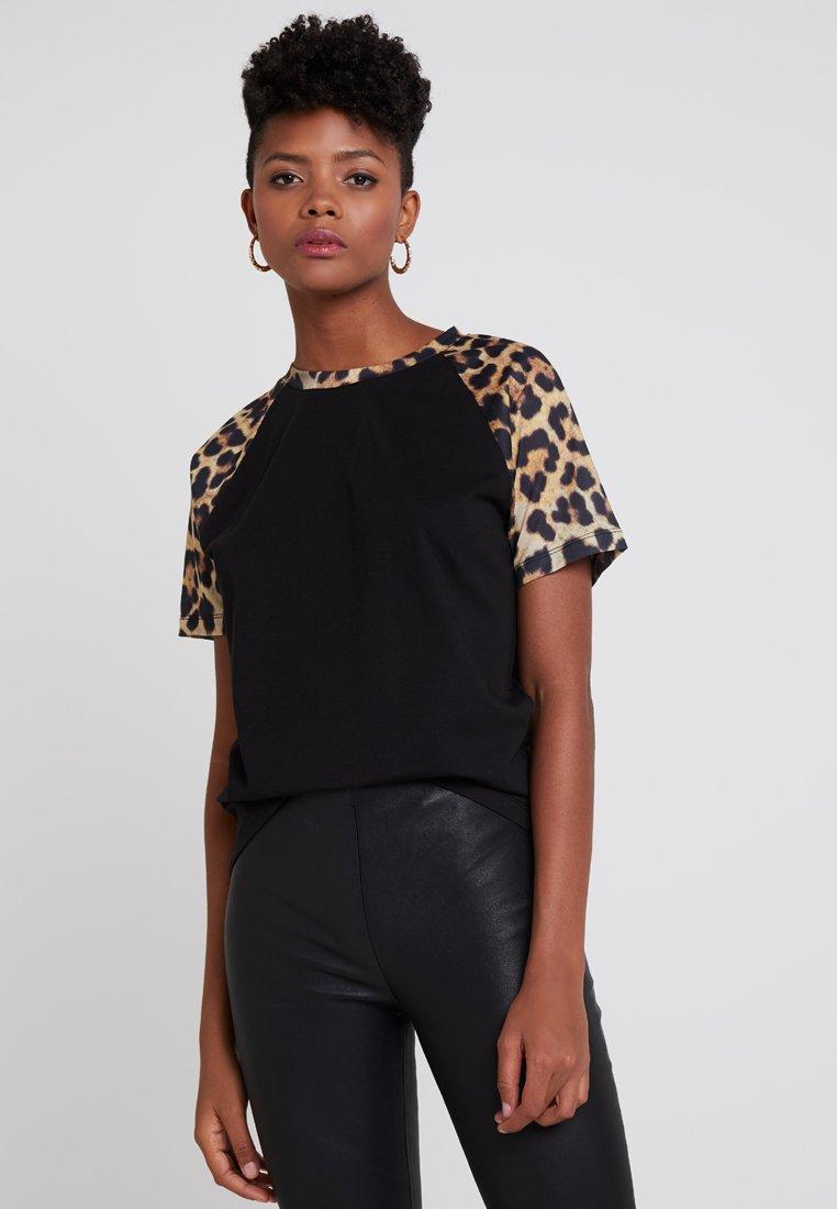 TWINTIP - T-shirt con stampa - black/brown