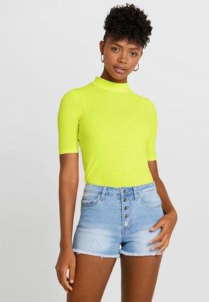 Print T-shirt - neon yellow