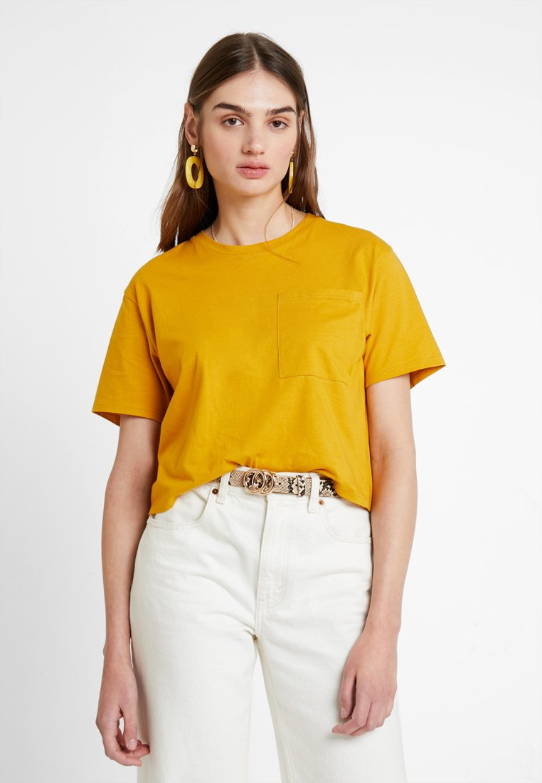 TWINTIP - Jednoduché triko - mustard