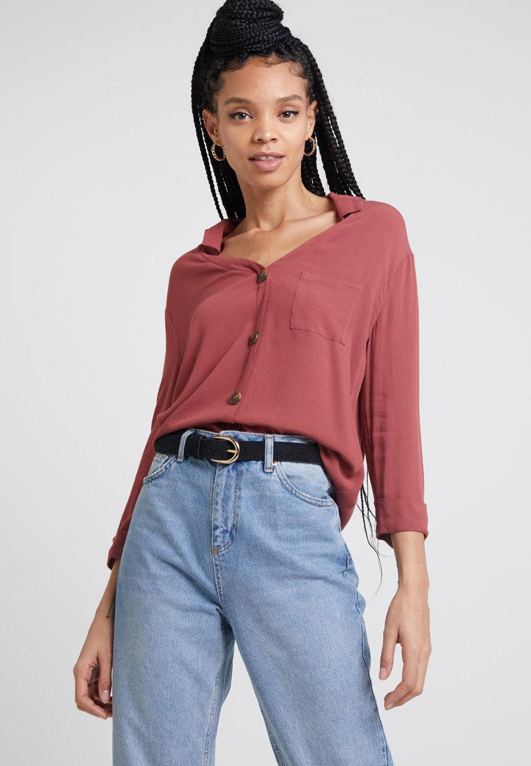 TWINTIP - Button-down blouse - red