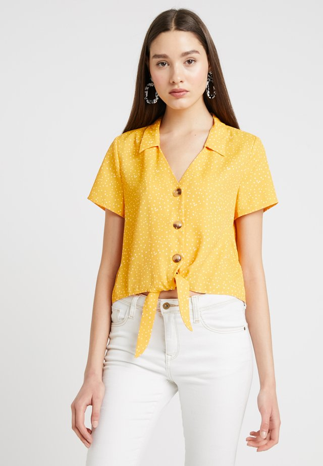 Button-down blouse - white/orange