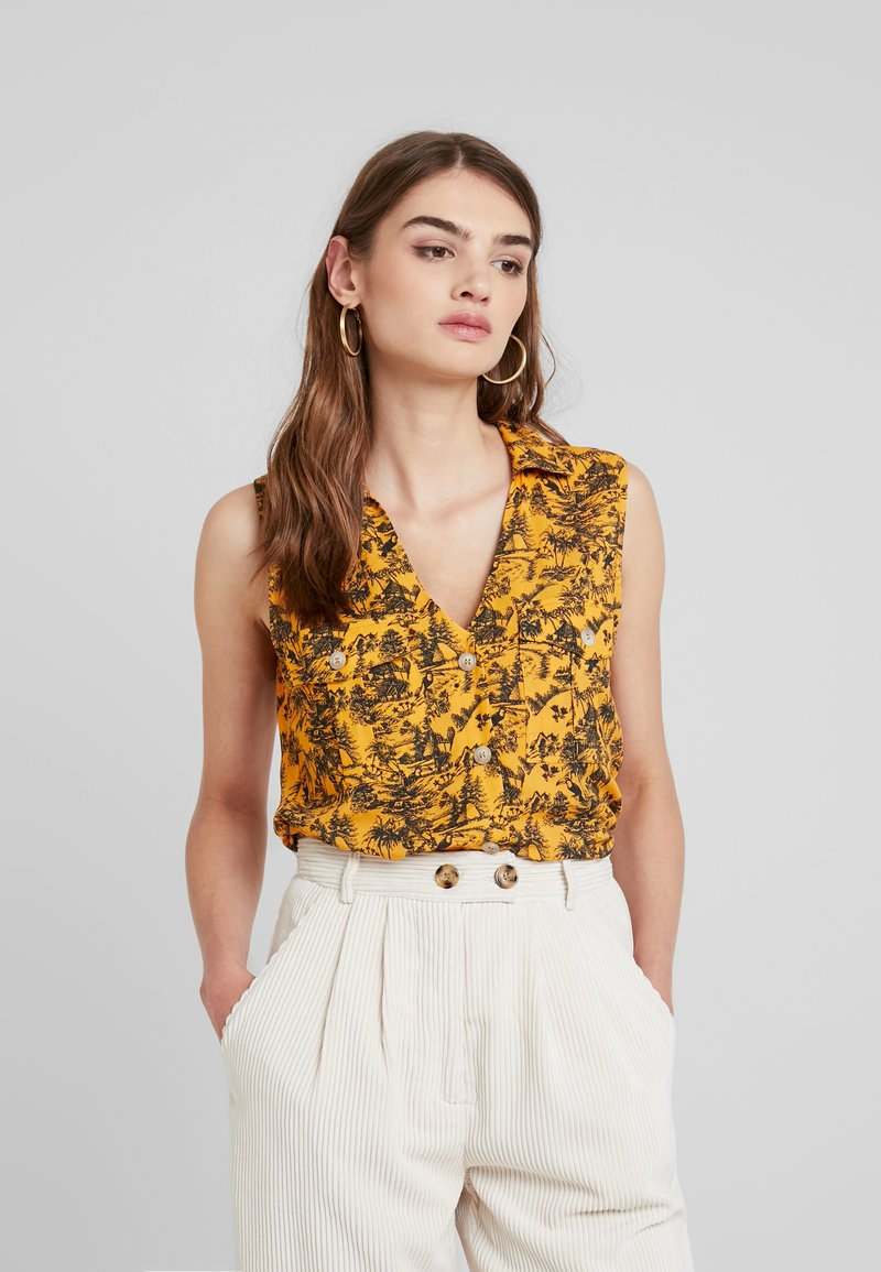 TWINTIP - Button-down blouse - yellow