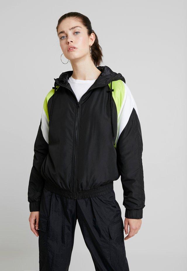 Training jacket - black/turquoise